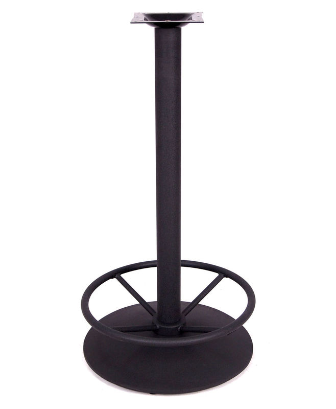 OEM Round Metal Table Legs / Restaurant Bar Table Bases Footrest Colour Customized