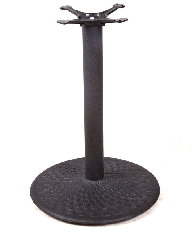 Professional Coffee Table Base Black Wrinkle Powder Coating For Restaurant Table
