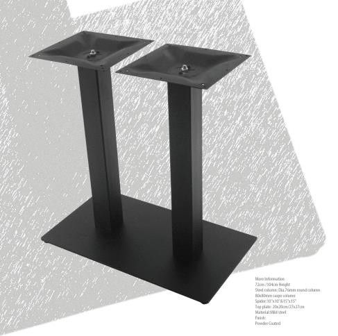 Mild Steel Dining Table Legs Pedestal Powder Coated For Restaurant Furniture