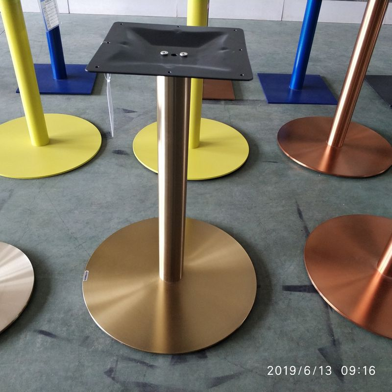 Stainless Steel Table legs Golden Table bases Colorful Bases with adjustable feet