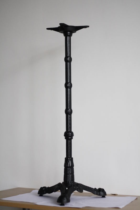 Black Color Bistro Table Legs Cast Iron Dining Table Legs 12 Month Warranty